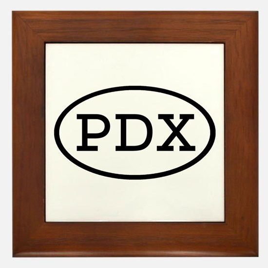 PDX Oval Framed Tile