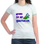 Wanna See my ShuttleCock Badm Jr. Ringer T-Shirt
