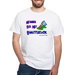 Wanna See my ShuttleCock Badm White T-Shirt