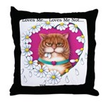 Loves Me Throw Pillow