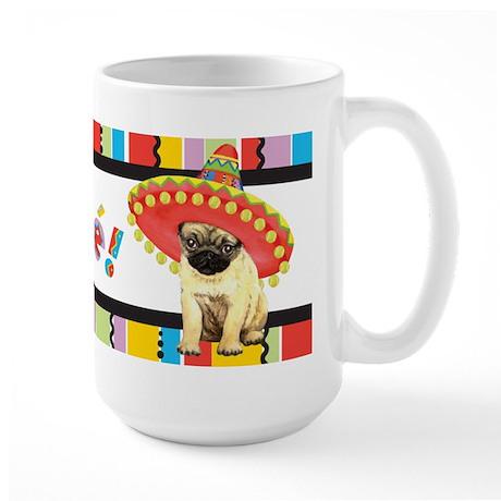 Fiesta Pug Large Mug