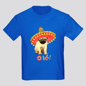 Fiesta Pug Kids Dark T-Shirt