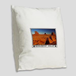 MONUMENT VALLEY Burlap Throw Pillow