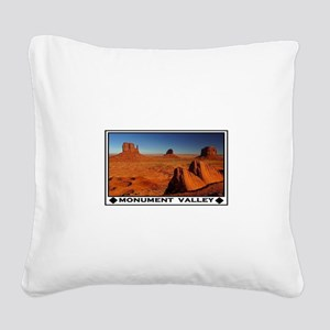 MONUMENT VALLEY Square Canvas Pillow