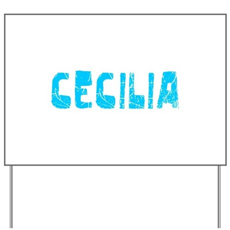 Cecilia Faded (Blue) Yard Sign