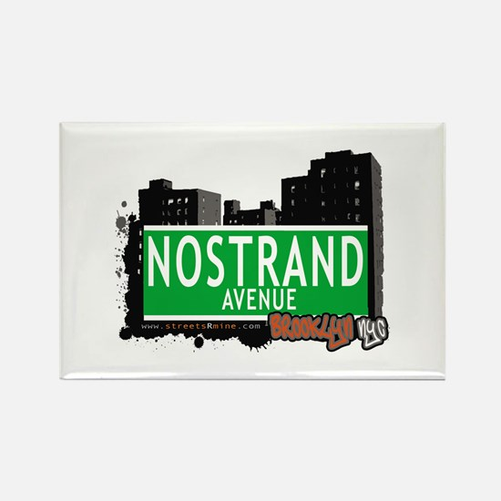 NOSTRAND AVENUE, BROOKLYN, NYC Rectangle Magnet