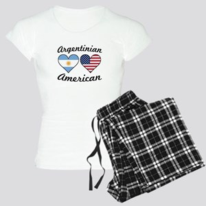 Argentinian American Flag Hearts Pajamas