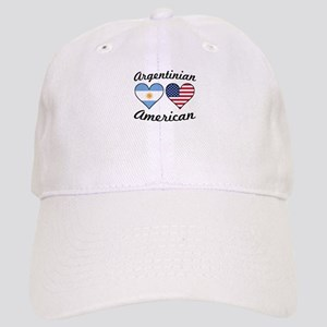 Argentinian American Flag Hearts Baseball Cap