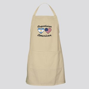 Argentinian American Flag Hearts Light Apron