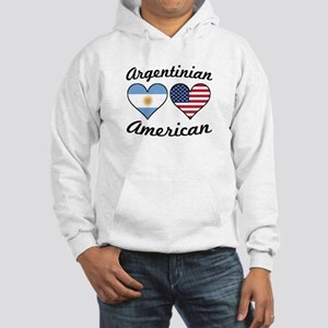 Argentinian American Flag Hearts Sweatshirt