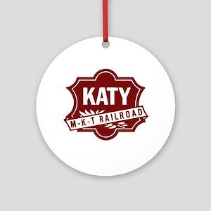 MKT Railroad Round Ornament