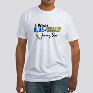 I Wear Blue & Yellow....2 (Son) Fitted T-Shirt