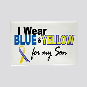 I Wear Blue & Yellow....2 (Son) Rectangle Magnet