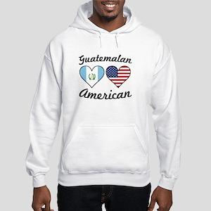 Guatemalan American Flag Hearts Sweatshirt