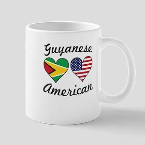 Guyanese American Flag Hearts Mugs