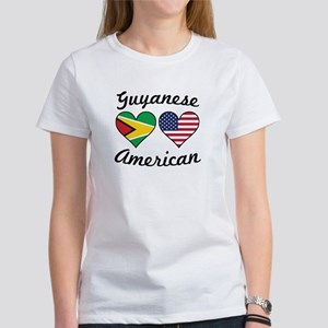 Guyanese American Flag Hearts T-Shirt