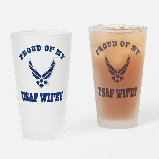 Air Force Wifey Proud Husband Drinking Glass