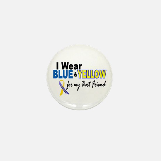 I Wear Blue & Yellow....2 (Best Friend) Mini Butto