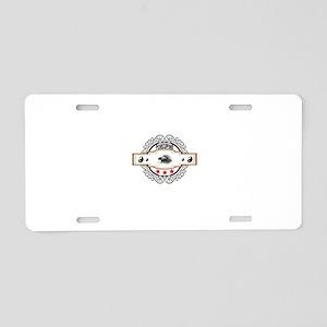 ying yang porcupine Aluminum License Plate