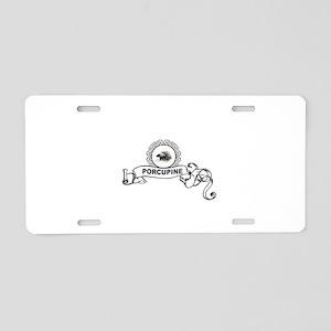 Porcupine prestige Aluminum License Plate