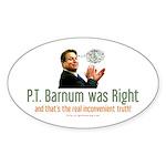 Al Gore - P.T. Barnum Oval Sticker (10 pk)