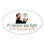 Al Gore - P.T. Barnum Oval Sticker (50 pk)