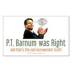 Al Gore - P.T. Barnum Rectangle Sticker