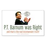 Al Gore - P.T. Barnum Rectangle Sticker 10 pk)