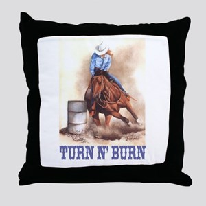 TURN N' BURN Throw Pillow
