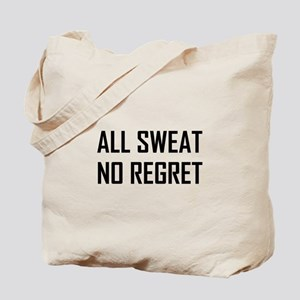All Sweat No Regret Workout Tote Bag