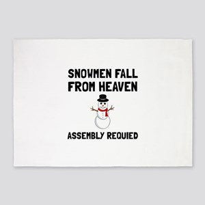 Snowmen From Heaven Assembly Required 5'x7'Area Ru