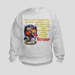 Don't mess with Dragons Kids Sweatshirt