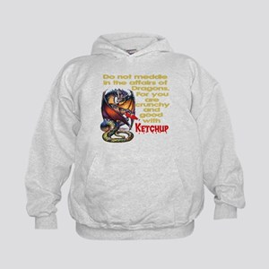 Don't mess with Dragons Kids Hoodie