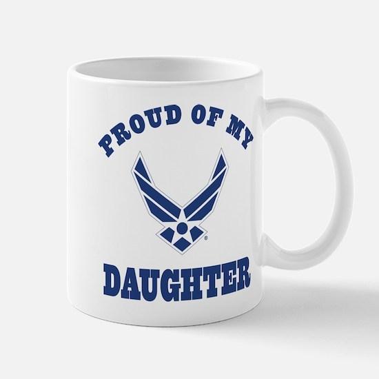 Air Force Daughter Proud Parent Mugs