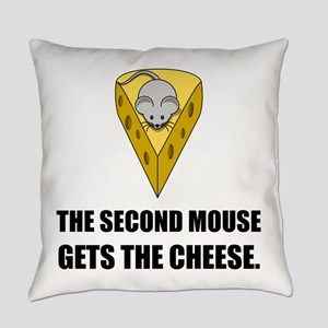 Second Mouse Gets Cheese Cartoon Everyday Pillow