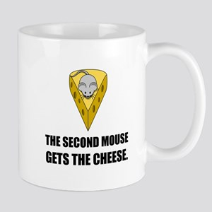 Second Mouse Gets Cheese Cartoon Mugs