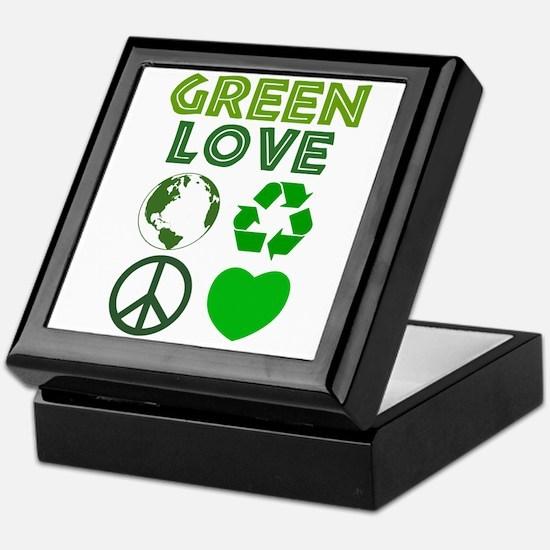 Green Love - Heart 1 Keepsake Box