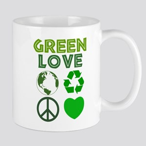Green Love - Heart 1 Mug