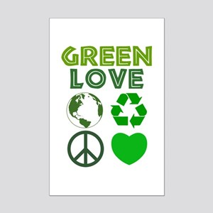 Green Love - Heart 1 Mini Poster Print