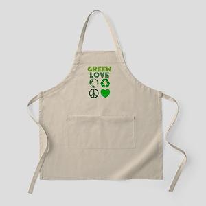 Green Love - Heart 1 BBQ Apron