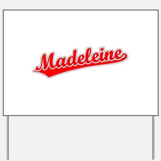 Retro Madeleine (Red) Yard Sign