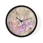Wild Saguaros Wall Clock