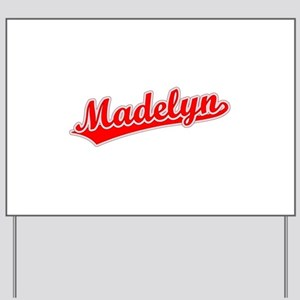 Retro Madelyn (Red) Yard Sign