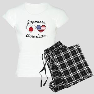 Japanese American Flag Hearts Pajamas