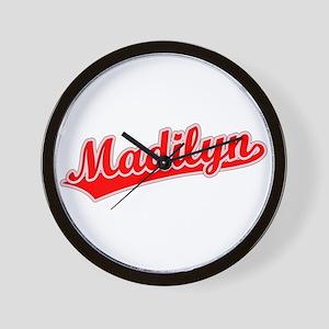 Retro Madilyn (Red) Wall Clock