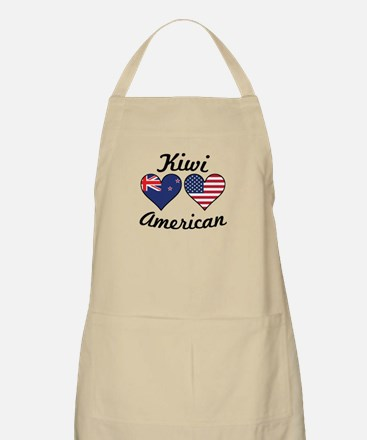 Kiwi American Flag Hearts Light Apron