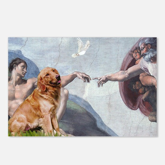 Creation of Golden Retreiver Postcards (Package of
