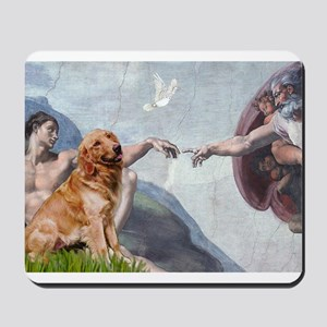 Creation of Golden Retreiver Mousepad