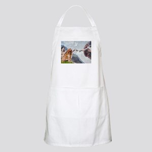 Creation of Golden Retreiver BBQ Apron