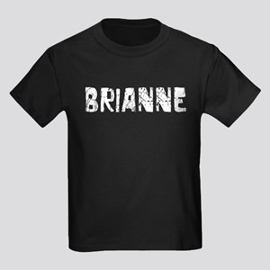 Brianne Faded (Silver) Kids Dark T-Shirt
